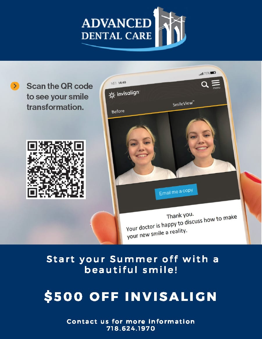 Brooklyn Invisalign Discount Coupon $500 Off - Advanced Dental Care